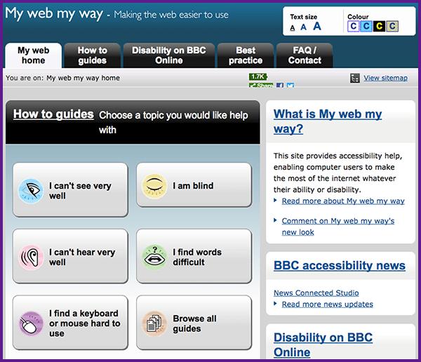 Image linking to BBC My Web My Way website