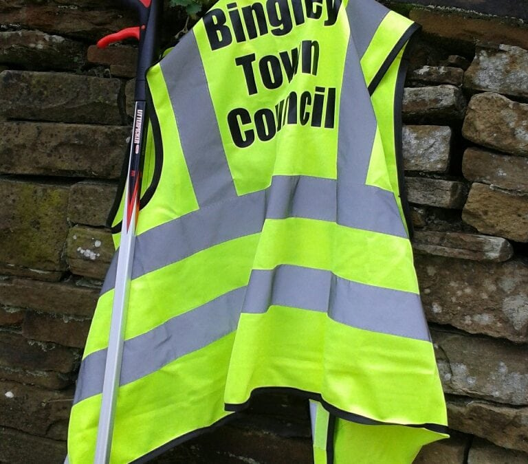 Bingley Town Council new equipment for litter picking