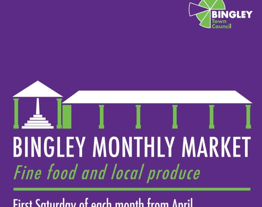 Bingley Market on Saturday 4th May