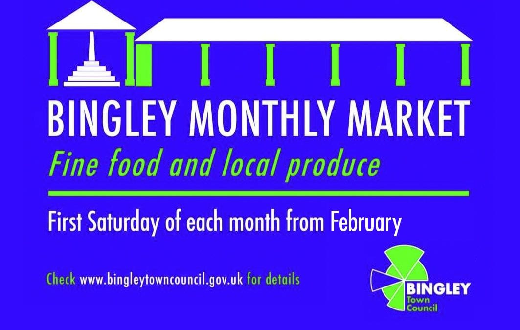Bingley monthly market to restart on 1st August