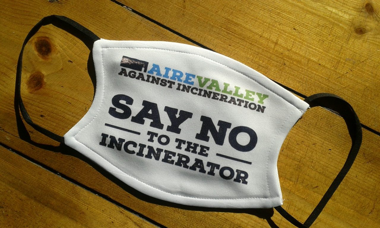 Aire Valley Against Incineration facemask
