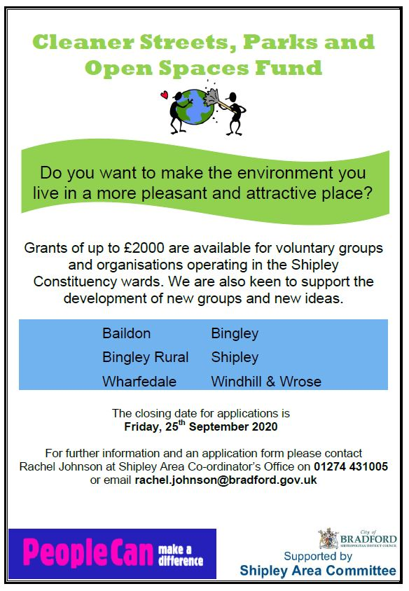 Cleaner streets fund poster