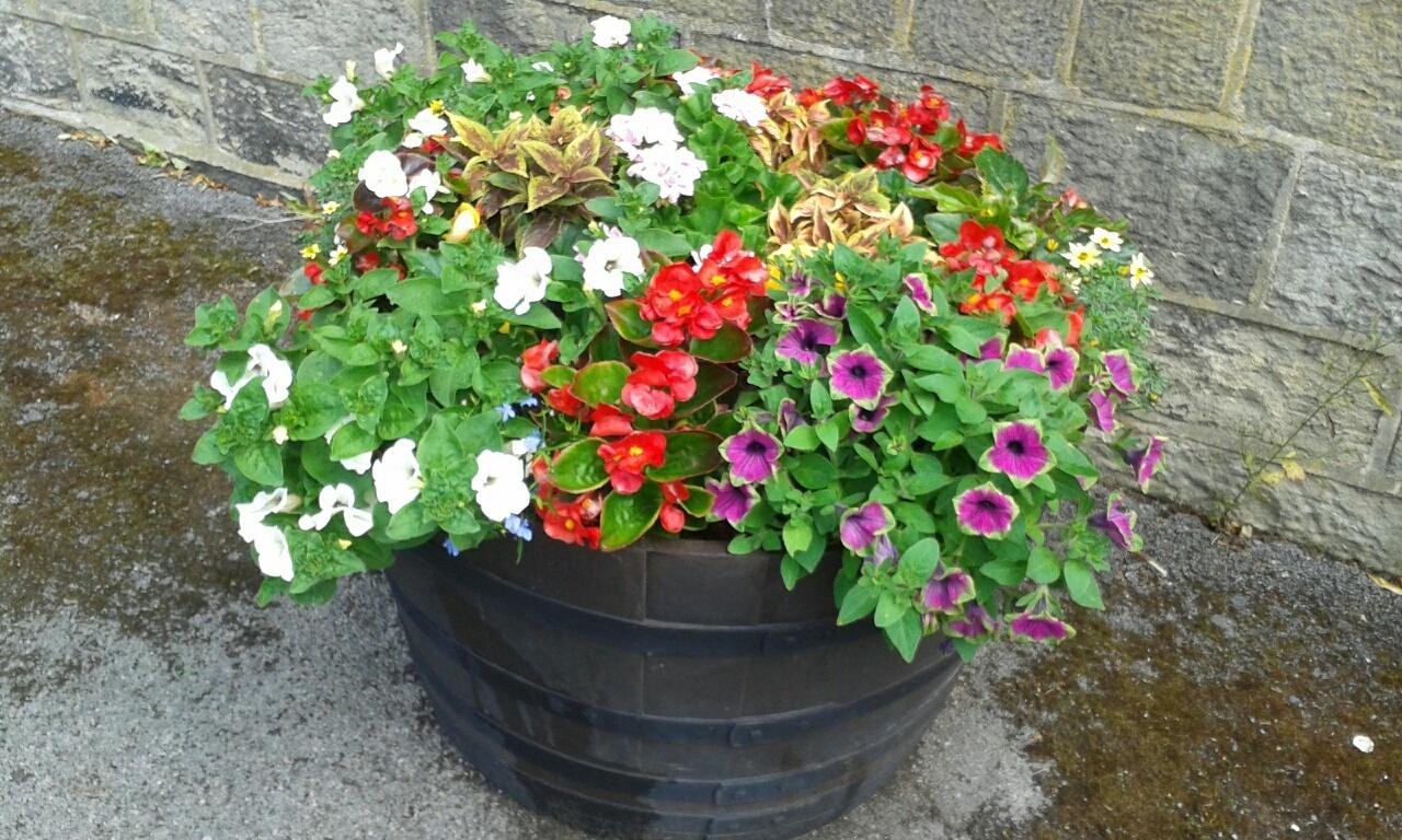 Flower tub Priestthorpe