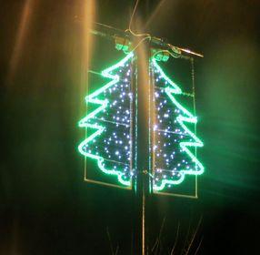 Christmas lights now ON!