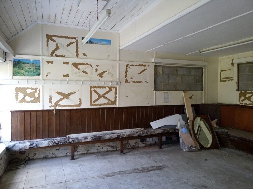 Inside of hut - dilapidated