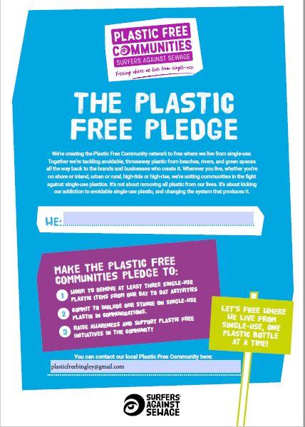 Make a plastic free pledge today