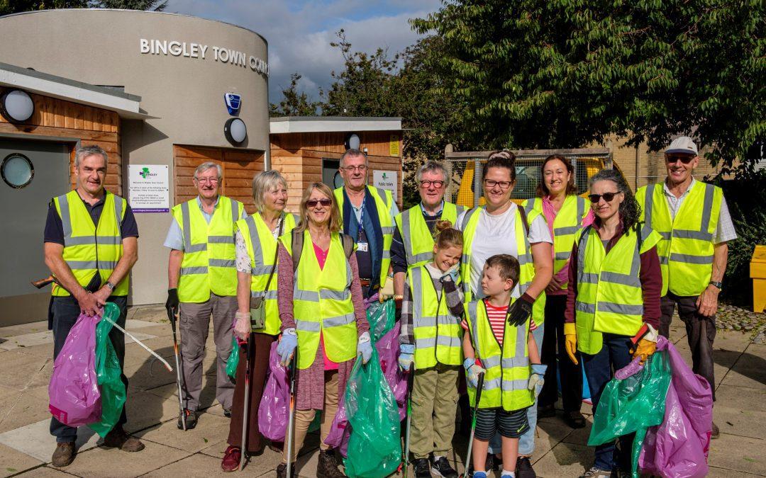 Group of Litter picker volunteers